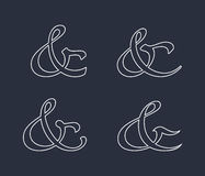 Ampersand collection Royalty Free Stock Photography
