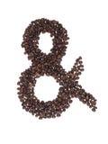 ampersand fasoli kawa zrobił symbolowi Obraz Royalty Free