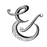 Ampersand in hand drawn style Royalty Free Stock Photo