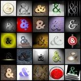 Ampersand kolaż Fotografia Royalty Free