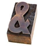 Ampersand in letterpress type Stock Photo