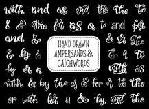 Ampersand lub sloganu literowanie, rocznik chrzcielnica ilustracja wektor