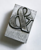 Ampersand metal type royalty free stock photography
