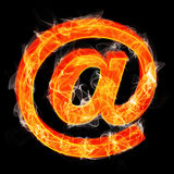 The ampersand sign as burning symbol Stock Photography