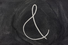 Ampersand sign on a blackboard Royalty Free Stock Photo