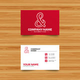 Ampersand sign icon. Logical operator AND. Business card template. Ampersand sign icon. Programming logical operator AND. Wedding invitation symbol. Phone Royalty Free Stock Image
