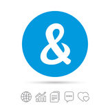 Ampersand sign icon. Logical operator AND. Ampersand sign icon. Programming logical operator AND. Wedding invitation symbol. Copy files, chat speech bubble and Stock Images