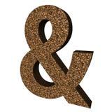Ampersand szyldowy drewno Royalty Ilustracja