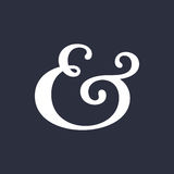 Ampersand vector illustration Royalty Free Stock Image