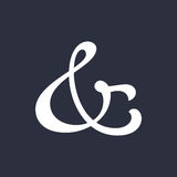 Ampersand vector illustration Royalty Free Stock Photos