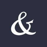 Ampersand vector illustration Stock Photography