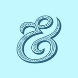 Ampersand vector illustration Royalty Free Stock Images