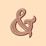 Ampersand vector illustration Royalty Free Stock Photography