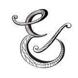 Ampersand w ręka rysującym stylu Zdjęcie Royalty Free
