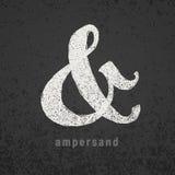 ampersand Wektorowy elegancki kredowy symbol na grunge blackboard Obraz Royalty Free