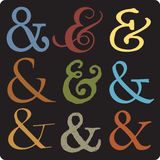ampersands Στοκ Εικόνες
