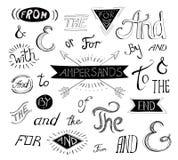 Εκλεκτής ποιότητας χέρι ύφους που γράφεται ampersands και Στοκ Εικόνα
