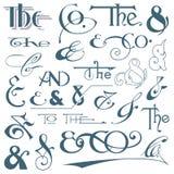 Χέρι που γράφονται ampersands και σλόγκαν Στοκ εικόνες με δικαίωμα ελεύθερης χρήσης