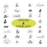 Ampersands and Catchwords stock illustration