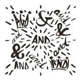 Ampersands e e Imagens de Stock
