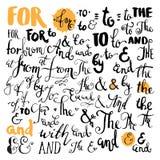 Ampersands e lemas tirados mão do vetor Fotografia de Stock Royalty Free