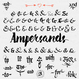 Ampersands Hand Drawn and catchwords Stock Photo