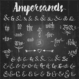 Ampersands Hand Drawn and catchwords Stock Images