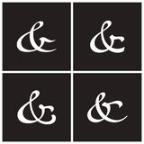 Ampersands vector illustration Royalty Free Stock Images