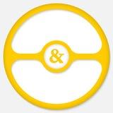 Ampersandteken Stock Fotografie