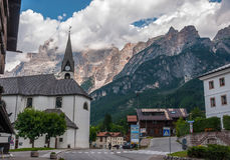 ` Ampezzo Italien för Cortina D Royaltyfri Foto