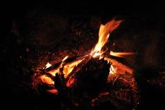 Ampfire and camping Royalty Free Stock Photos