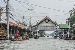 Amphawa bangkok floating market gateway Thailand Royalty Free Stock Images