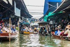 Amphawa bangkok floating market thailand. Bangkok, Thailand - December 30, 2013: Amphawa bangkok floating market at Bangkok, Thailand on december 30th, 2013 Royalty Free Stock Photography