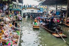 Amphawa bangkok floating market Thailand Royalty Free Stock Image