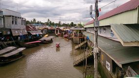 Amphawa floating market Stock Image