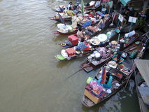 Amphawa floating market. Food sellers in Amphawa floating market, Samutsongkhram Thailand stock image