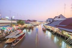 Amphawa Floating Market Stock Image