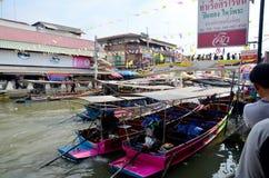 Amphawa Floating Market in Samut Songkhram, Thailand Royalty Free Stock Photo