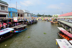 Amphawa Floating Market in Samut Songkhram, Thailand Royalty Free Stock Photos