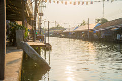 Amphawa floating market. In thailand Royalty Free Stock Image
