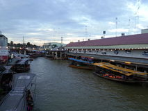 Amphawa floating market. In Thailand royalty free stock photography