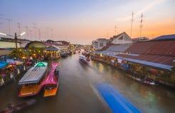 Amphawa floating market Stock Photography