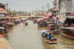 Amphawa Floating Market Royalty Free Stock Photos