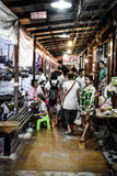 Amphawa floating market Stock Photos