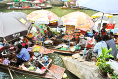 Amphawa Floting Market in Thailand Royalty Free Stock Photography