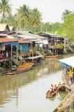 Amphawa kanał, Tajlandia Zdjęcia Stock
