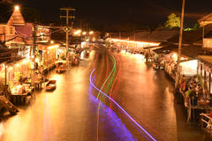 Amphawa market canal, the most famous of floating market Royalty Free Stock Photos