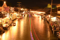 Amphawa market canal, the most famous of floating market Stock Images