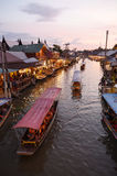 Amphawa market canal, the most famous of floating market Stock Image