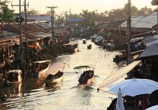 Amphawa market canal Stock Photo